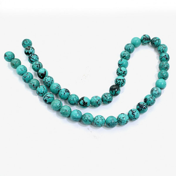 Round Flat Beads For Jewelry Making 16 INCH Drilled Strand Natural TIBETIAN TURQUOISE Beads
